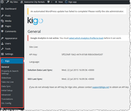 Kigo WordPress Plug-In